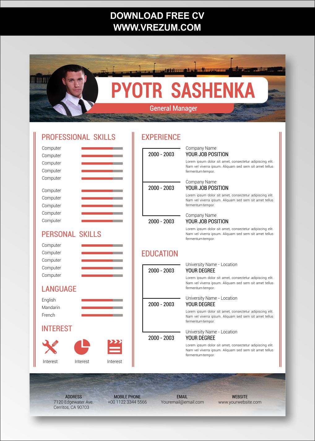 personal trainer cv example