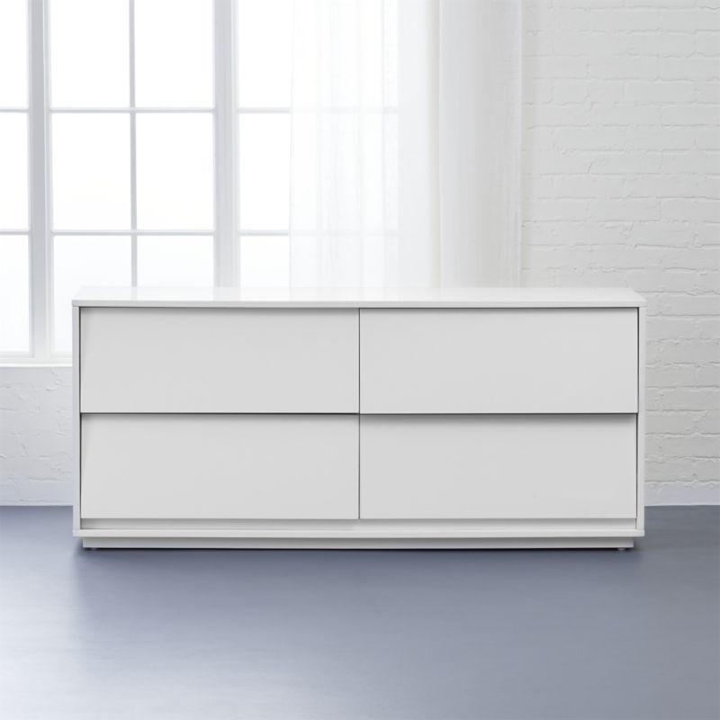 Shop Shake Low Dresser White Space Angles A Modern Slant On