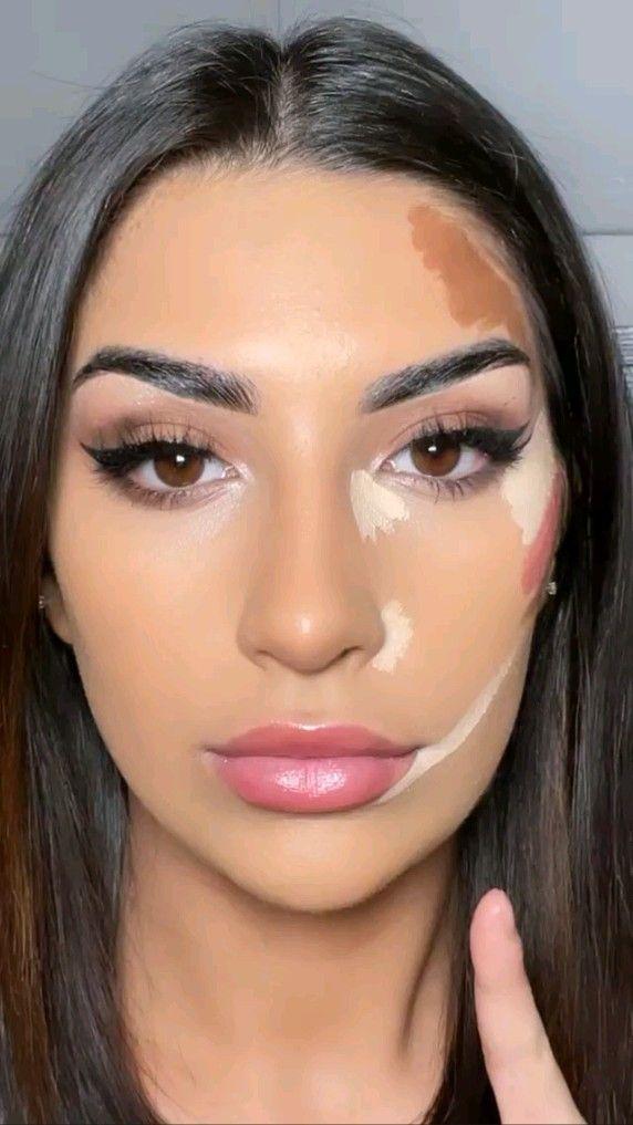face lift using makeup