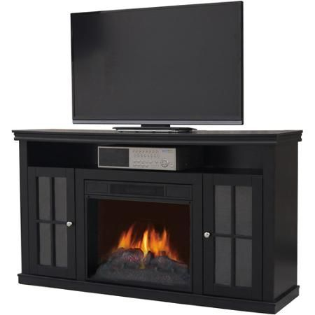 Walmart Dcor Flame Electric Fireplace For Tvs Up To 42 Black