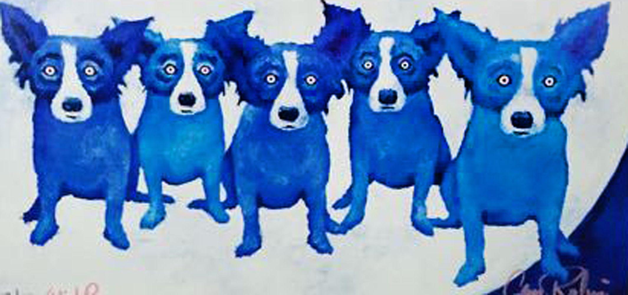 Blue dog rodrigue art for sale blue dog art blue