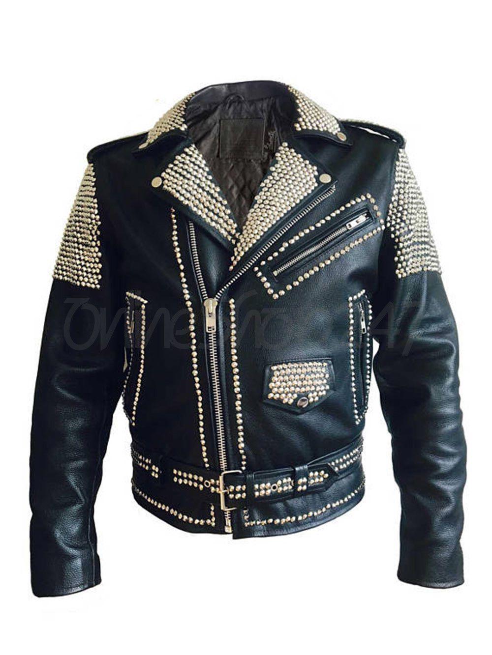New Mens Punk El Patron Black Full Silver Spiked Studded Brando Leather Jacket Leather Jacket Spiked Leather Jacket Leather Jacket Men [ 1333 x 1000 Pixel ]
