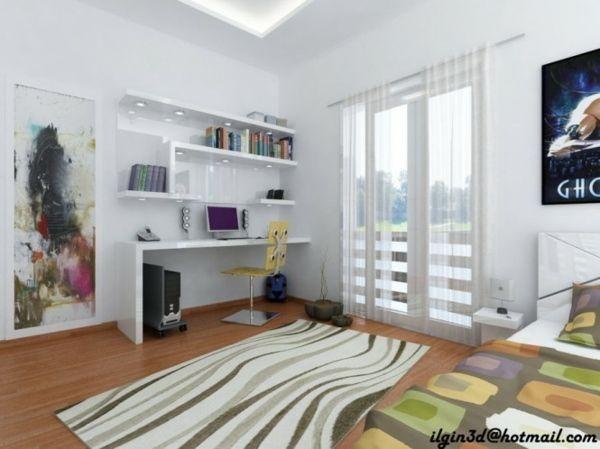 Aménager un coin bureau dans la chambre ado : 30 idées   Bedrooms