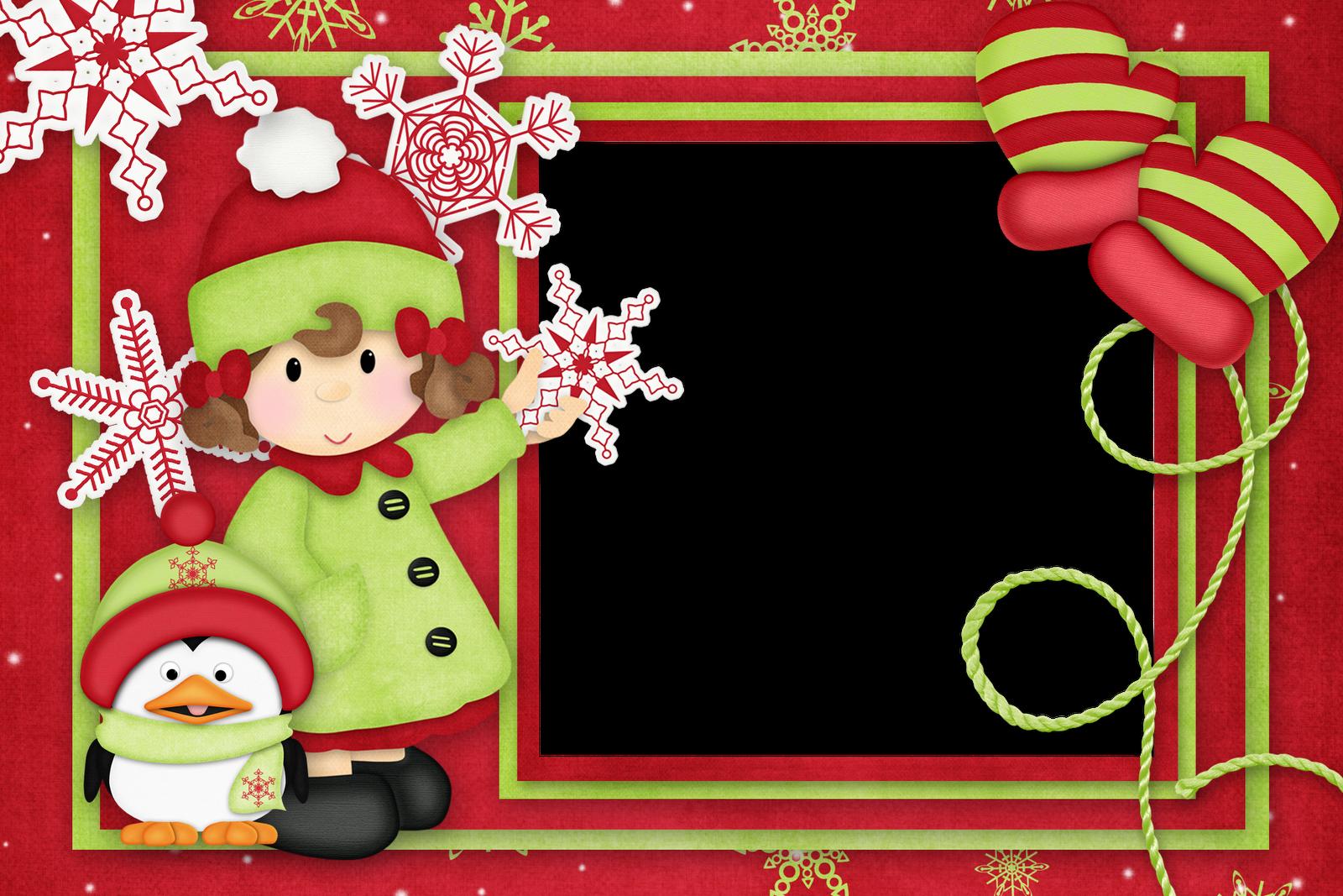 Marcos de navidad infantiles plantillas recursos y m s - Tarjetas de navidad manuales ...