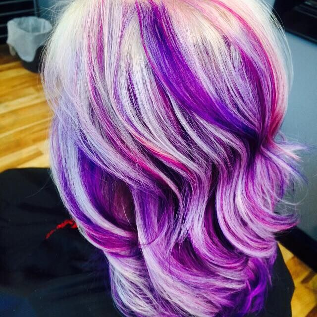 White and purple streaked hair color funky hair color purple and white hair fy hair colors pmusecretfo Gallery