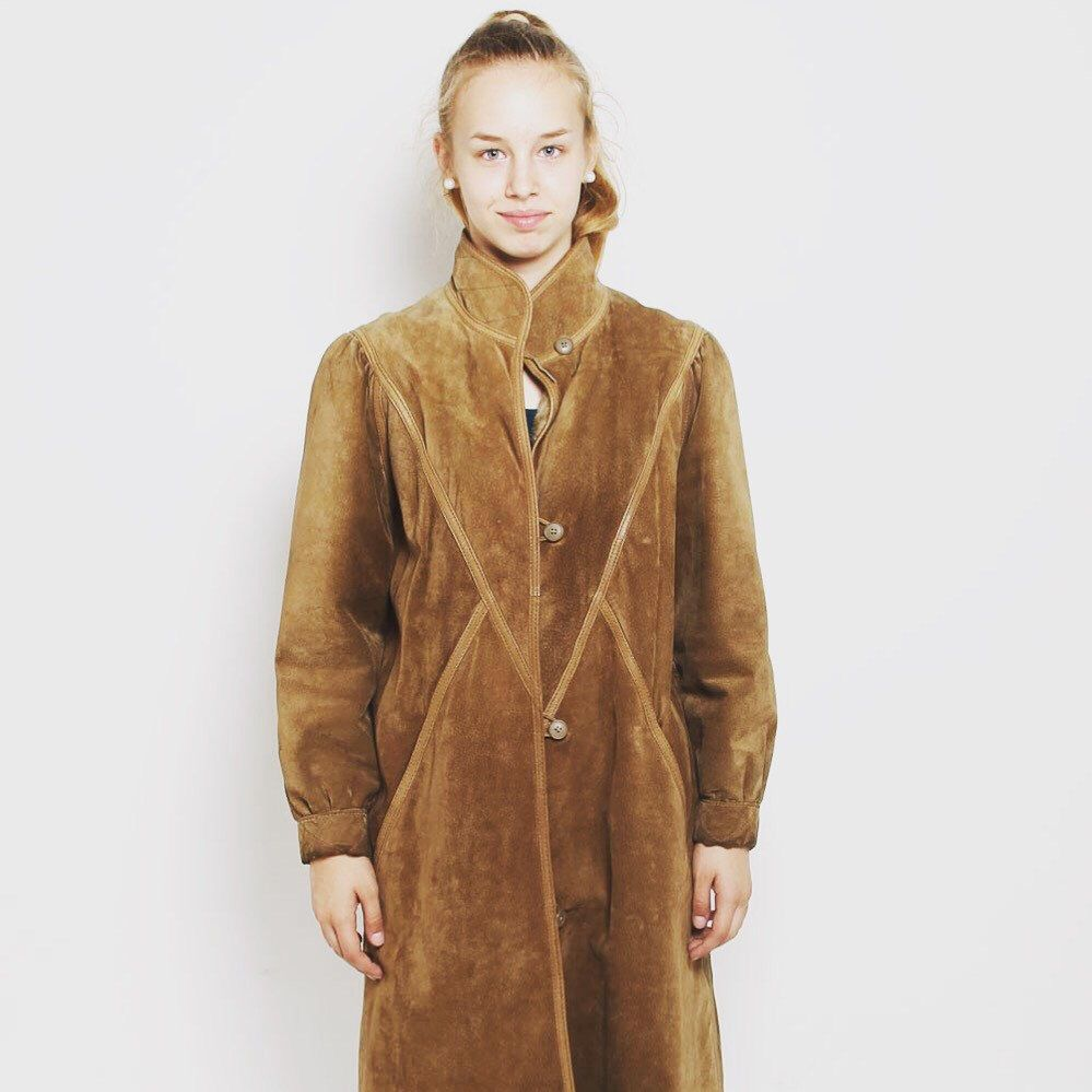 3bb0cbc05 80s suede coat on sale now! | falling in 2019 | Suede coat, Coat ...