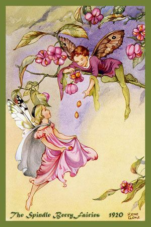 Olde America Antiques | Quilt Blocks | National Parks | Bozeman Montana : Rene Cloke Fairies - The Spindle Berry Fairies