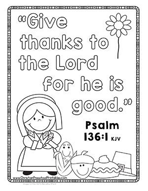 Thanksgiving Bible Printables Crafts Christian Preschool