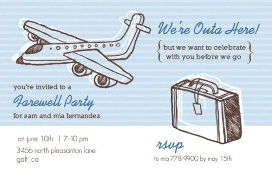 Going Away Party Ideas GraduBirthVoyage Party Pinterest - Bon voyage party invitation template