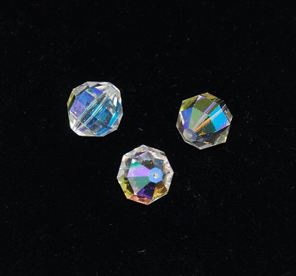 Extra Large Swarovski Crystal Ab 346 Beads Discontinued 2