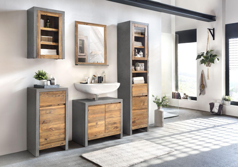 Badmobel Set Burnham In 2020 Bad Set Waschbeckenunterschrank Und Badschrank