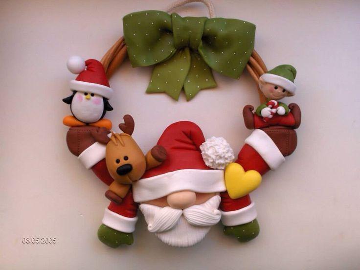 Natal biscuit on pinterest pinteres for Adornos navidenos en porcelana fria utilisima