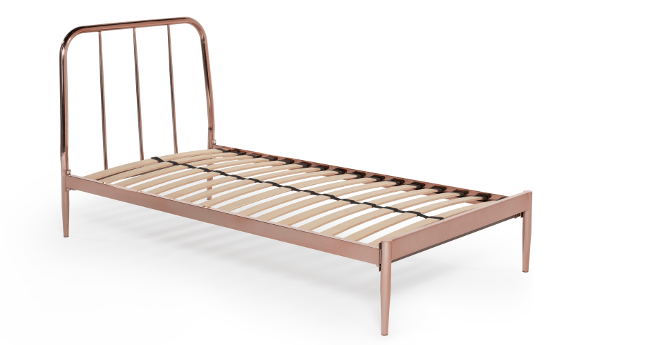 Alana single bed copper from Madecom Express delivery Copper