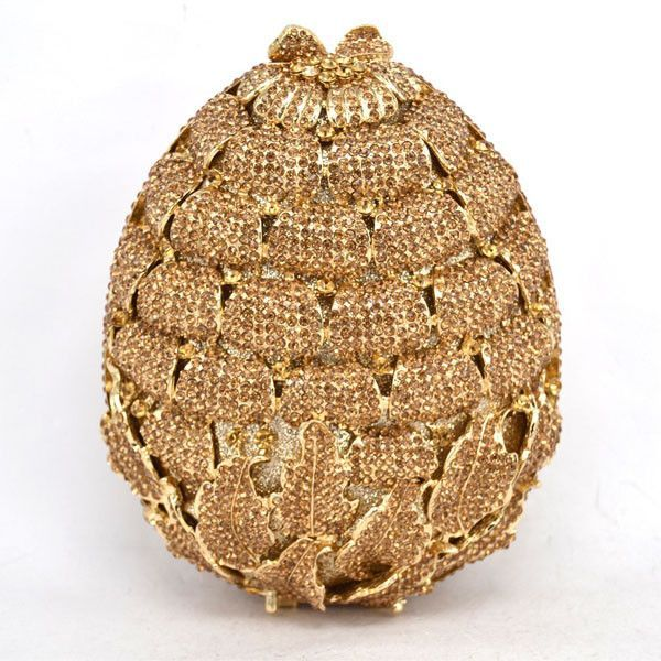 Newest Luxury Diamond Strawberry Evening Clutch Bag/ Hollow Out