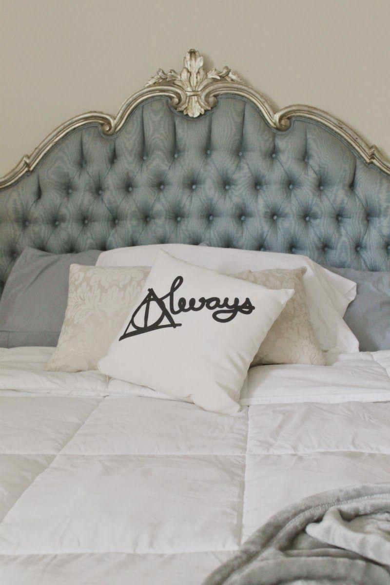 harry potter headboard on fashionhista home sweet home bedroom vintage bedroom decor bedding inspiration bedroom decor
