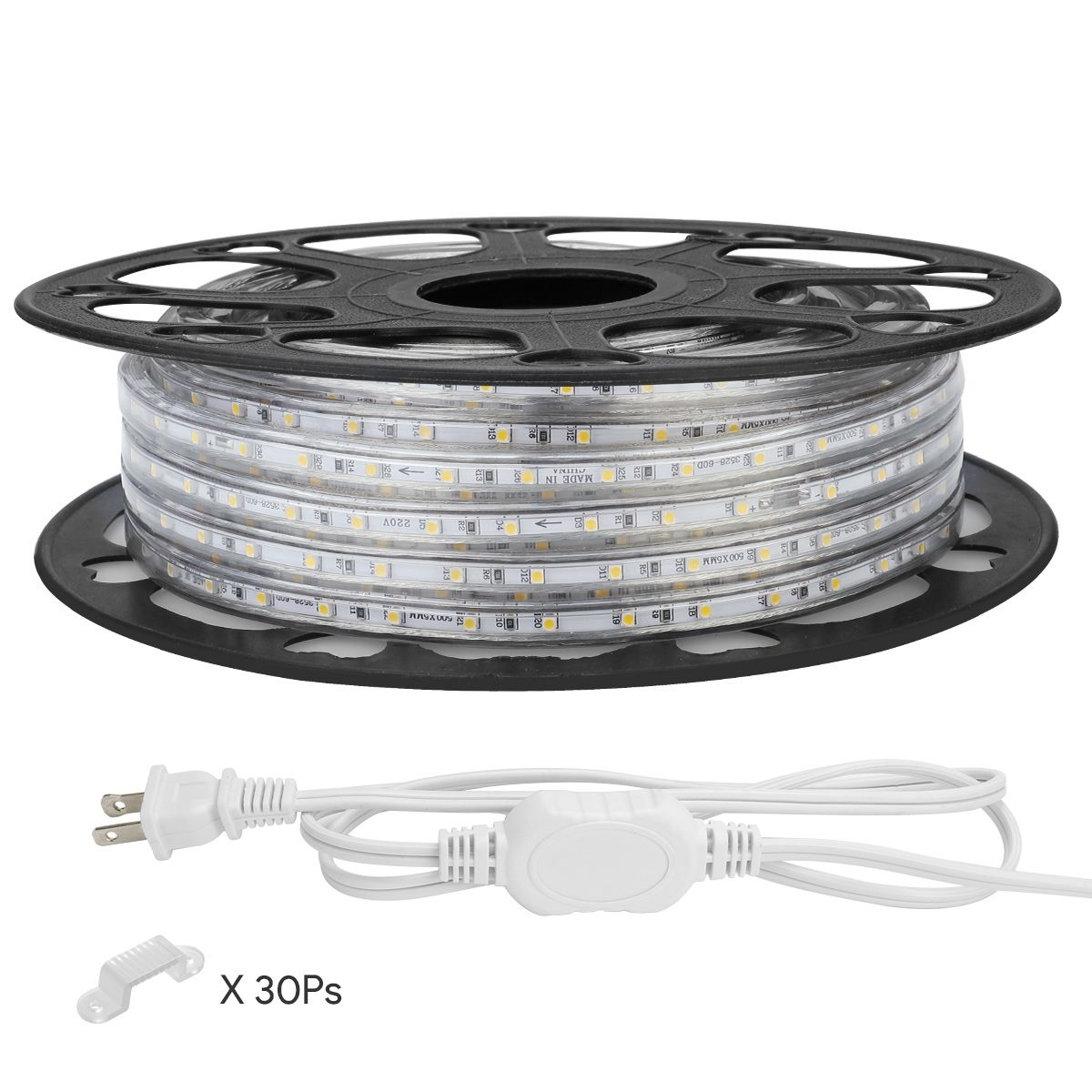 Le 49ft Led Strip Lights 120 Volt 70w 900 Smd 3528 Leds Waterproof Flexible Warm White Etl Listed Strip Lighting Led Strip Lighting Waterproof Led Lights