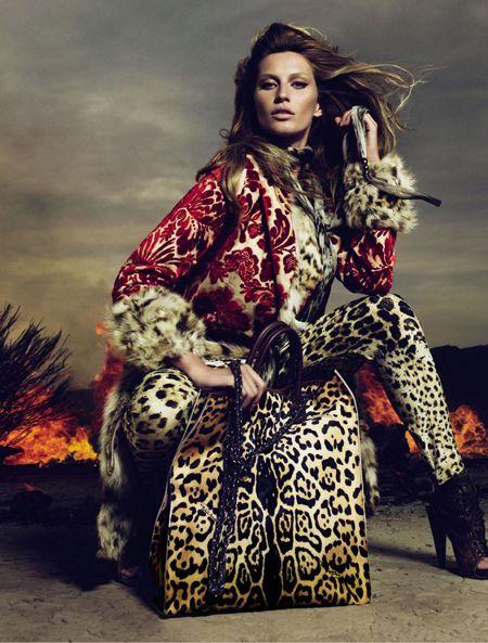 Gisele Bundchen For Roberto Cavalli Fall/ Winter 2010/ 2011 Ad Campaign