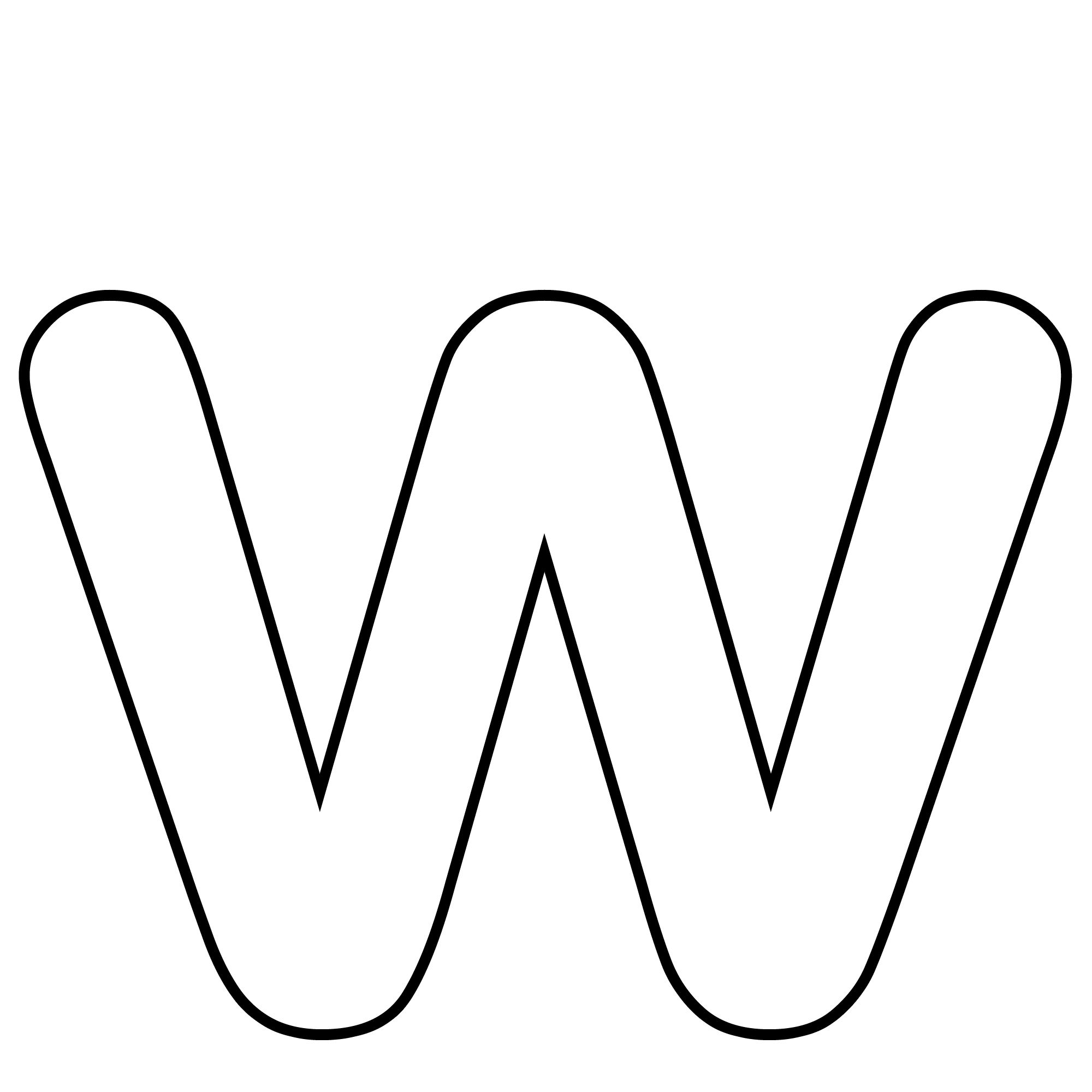 Images Of Letter W    Alphabet Letter W Template For Any