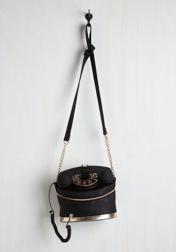 That's What I Call Cool Bag by Betsey Johnson - Black, Solid, Party, Casual, Girls Night Out, Statement, Quirky, Nifty Nerd, Fall, Winter, Faux Leather, Best
