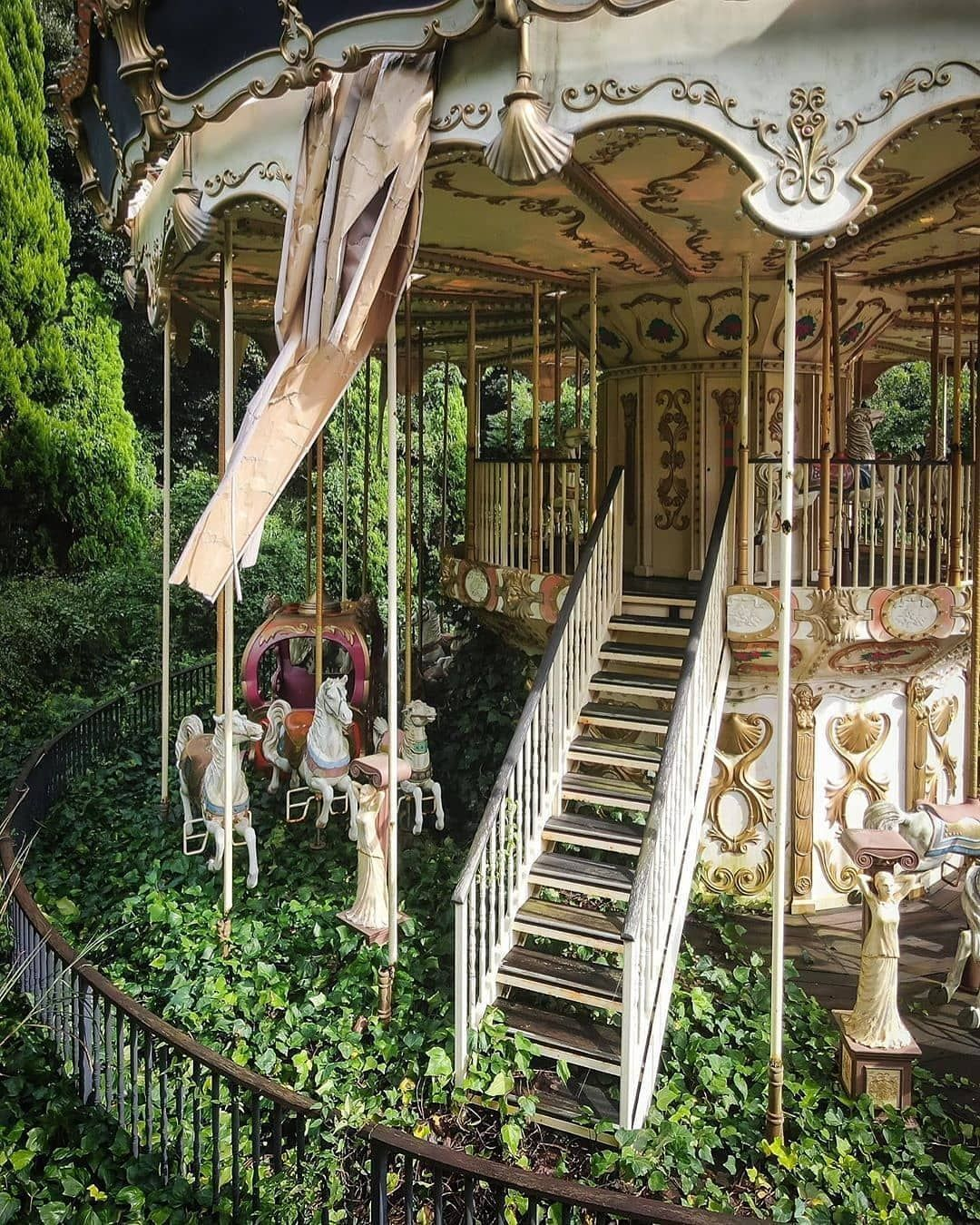 """Deserted Places On Instagram: """"Abandoned Carousel"""