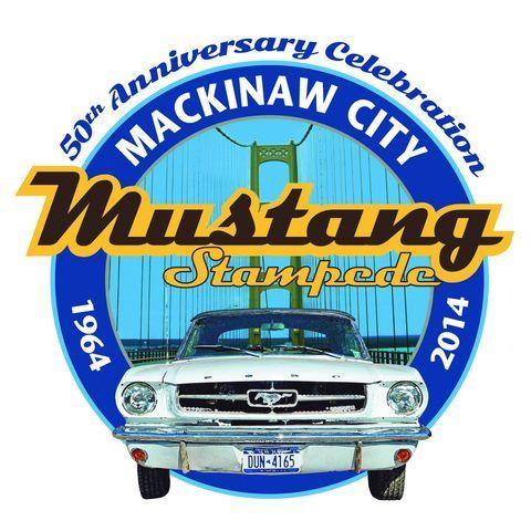Mustang Stampede in Mackinaw City, Michigan, 2014