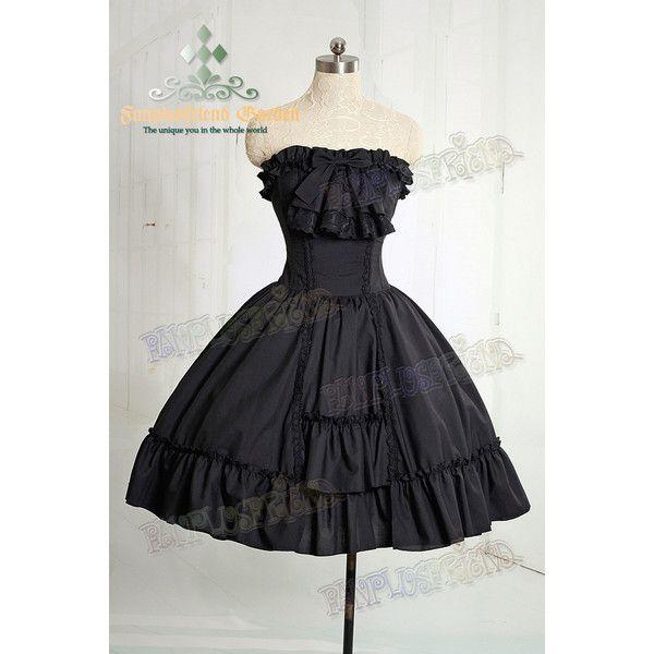 Ghost Bride, Classic Gothic Lolita Steel Boned Corset Bodice... ❤ liked on Polyvore featuring dresses, black wardrobe, short dress, vestidos, steel bone corset, bridal corset, short bride dresses, steel corset and short bridal dresses