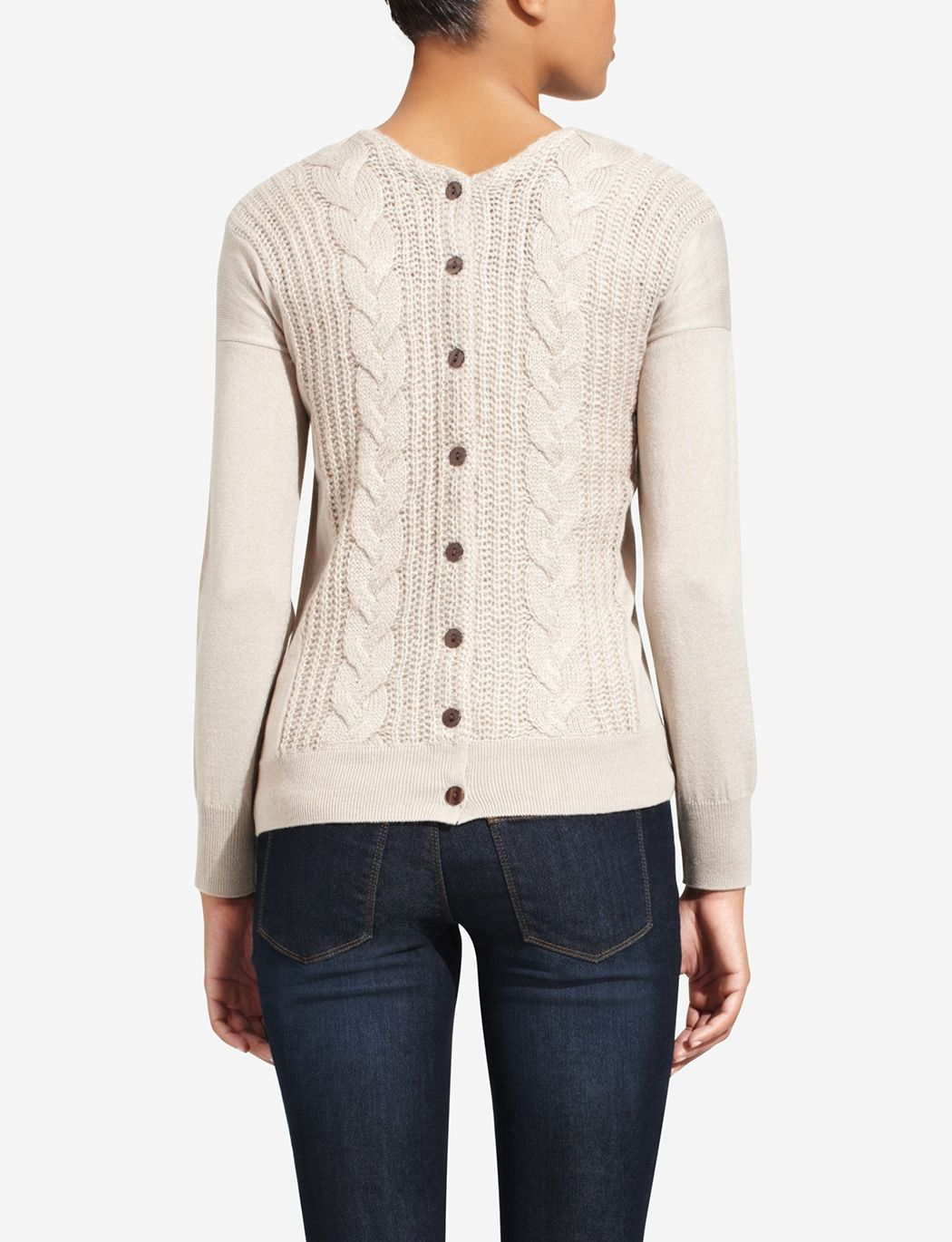 70404f3fe6 Button Back Sweater
