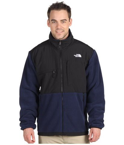 Mens The North Face Fleece Denali Jacket Black Blue | North Face ...