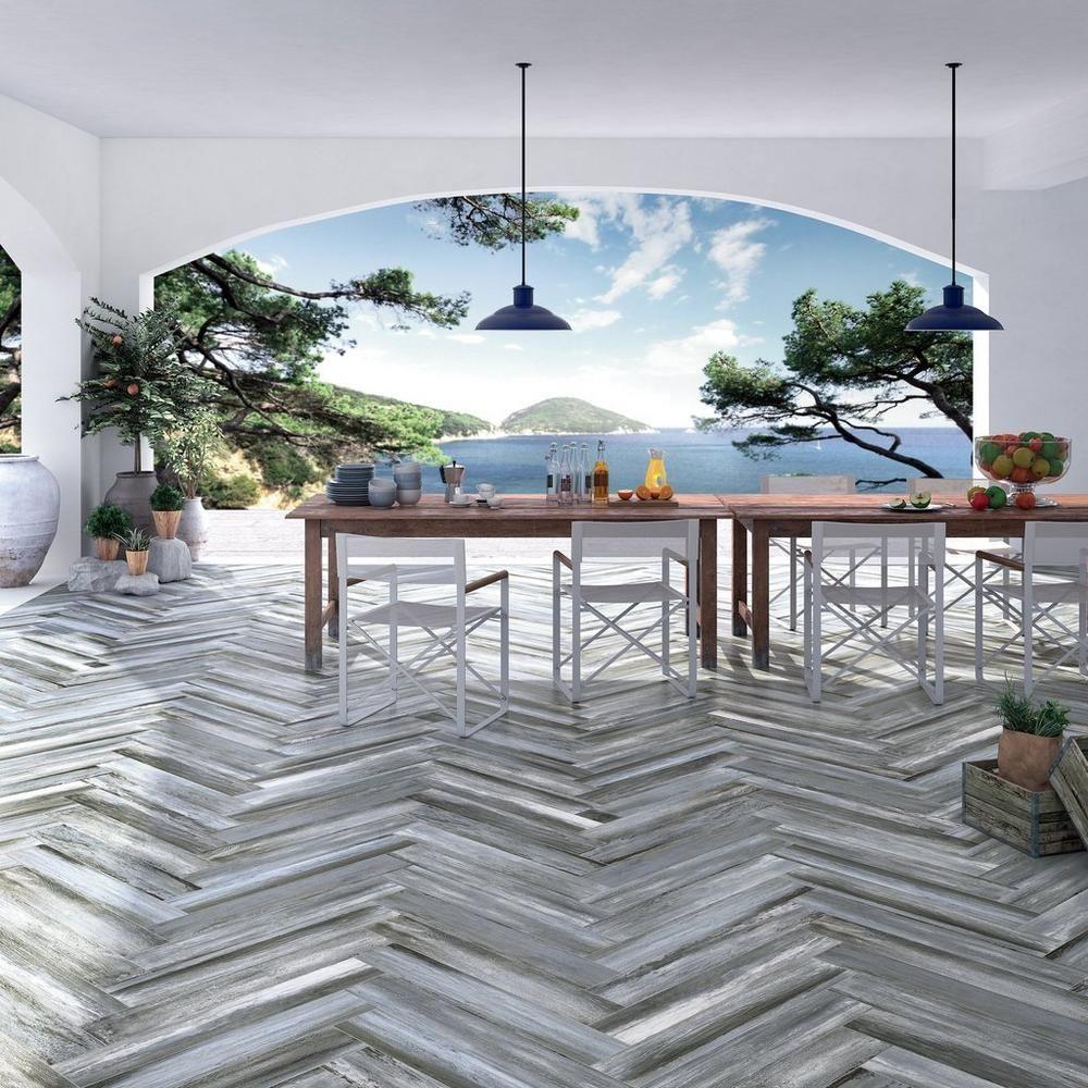 Lexington Blue Wood Plank Porcelain Tile Blue Wood Wood Planks