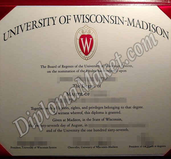 University Of Wisconsinmadison Diploma University Of Wisconsin