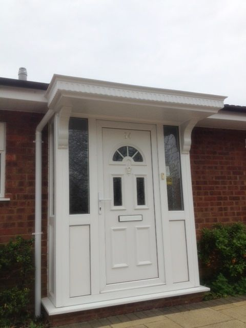 White pvcu porch supplied and installed by Unicorn Windows Ltd of Leighton Buzzard, Bedfordshire