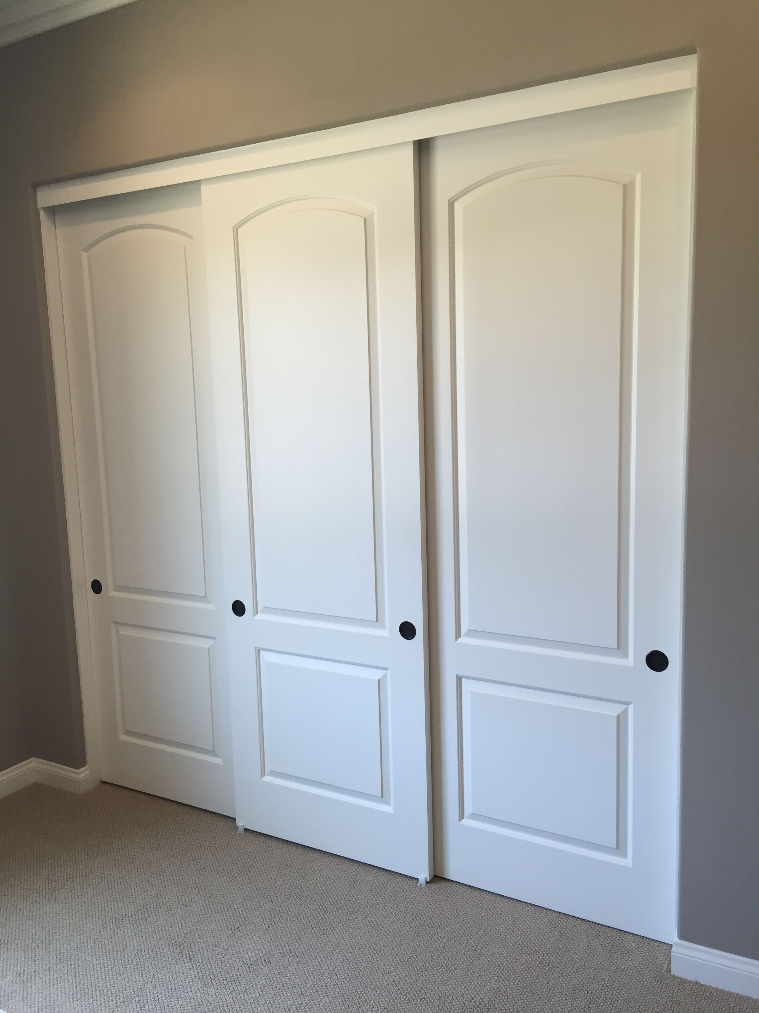 Sliding bypass closet doors of southern california are for Bedroom closet barn doors