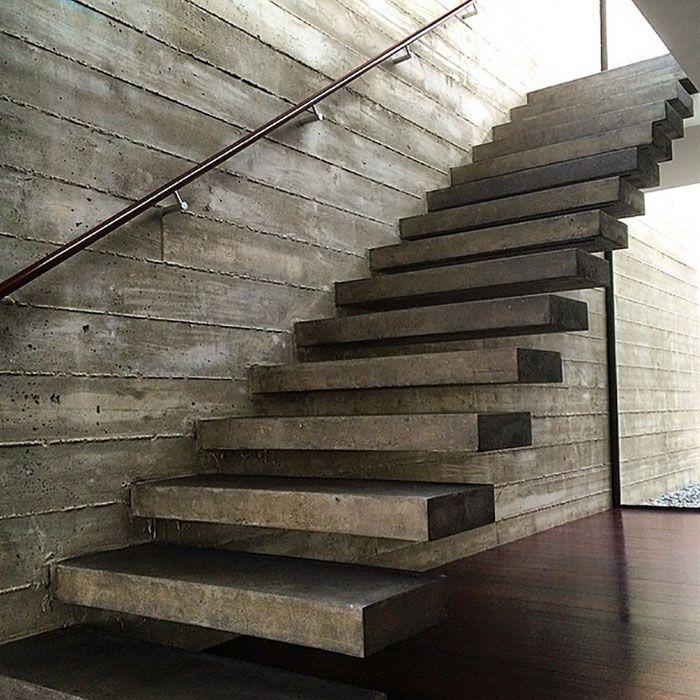 Best Floating Concrete Stairs Concreto Casas 640 x 480