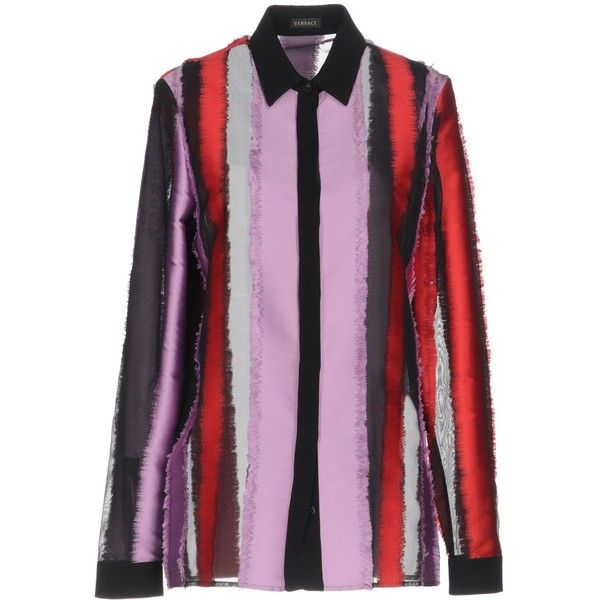black and red versace shirt