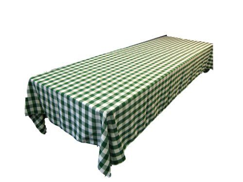 LinenTablecloth 60 x 102-Inch Rectangular Tablecloth Green & White Checker LinenTablecloth http://www.amazon.com/dp/B008TL7FQE/ref=cm_sw_r_pi_dp_zlwTub0EA3B4F