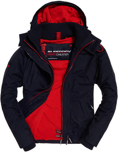 Superdry Technical Hooded Pop Zip SD Windcheater Jacket