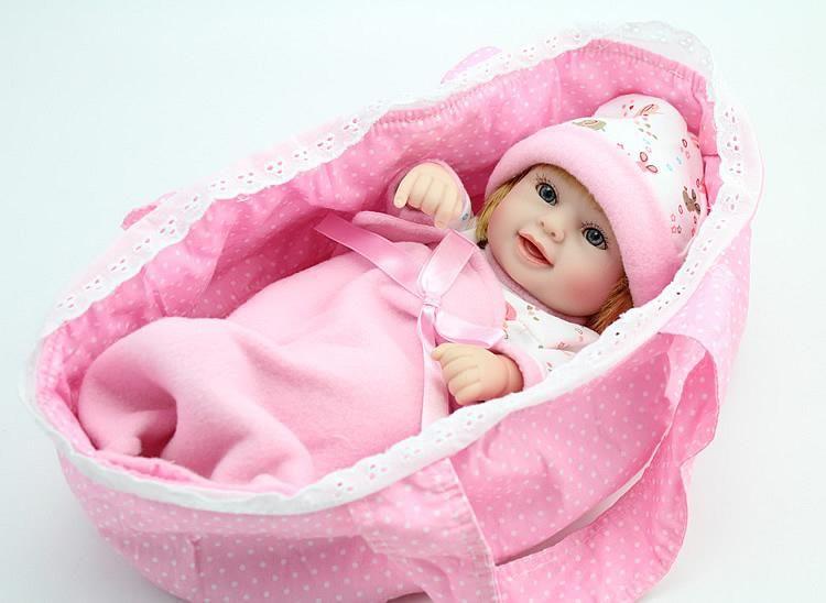 Mini Reborn 10 Inch Vinyl Baby Doll Silicone Baby Dolls Baby Dolls Newborn Baby Dolls