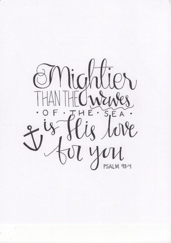 Handwritten Psalm 934 Calligraphy Print By Wildwoolco On Etsy