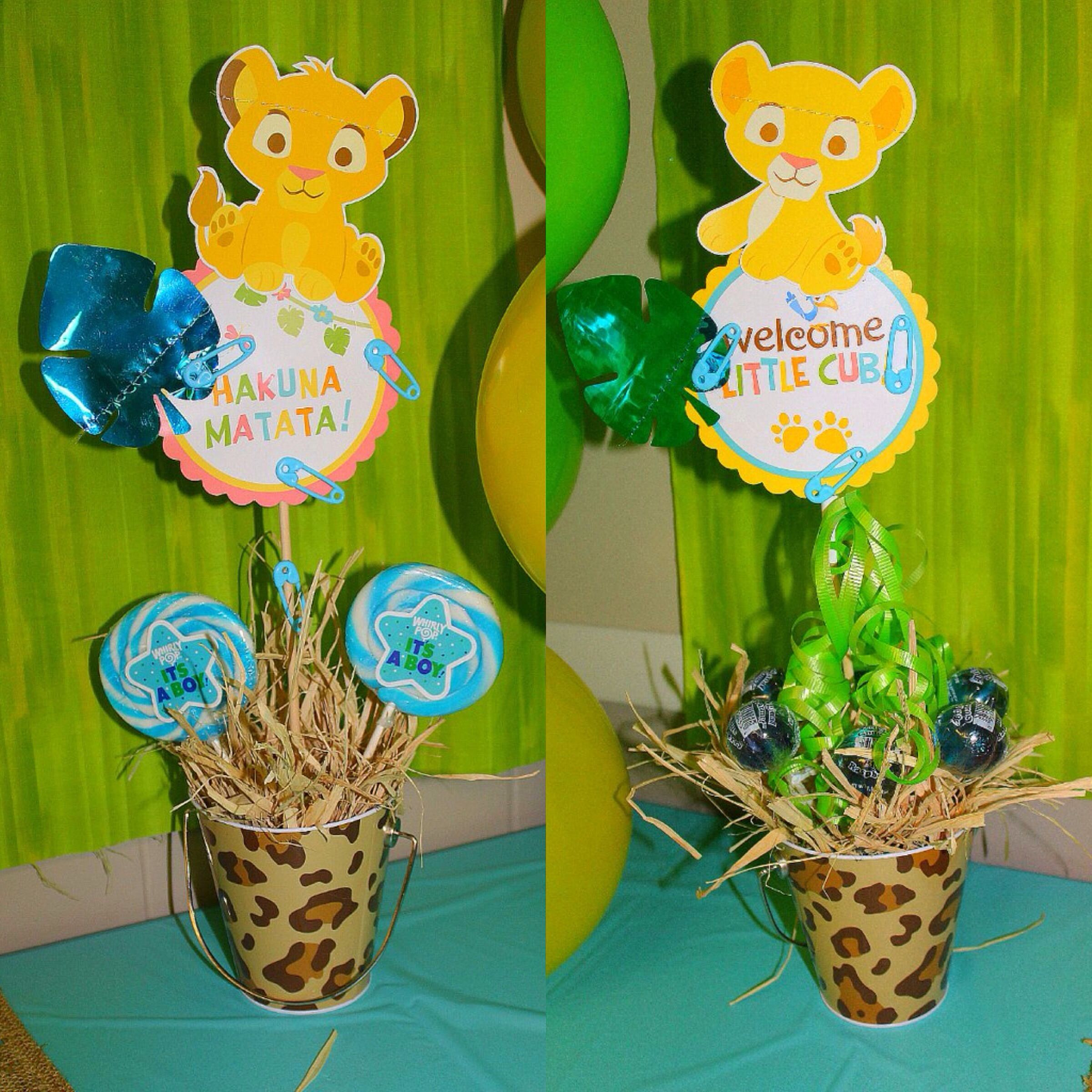 Baby simba Centerpieces the lion king by delabhe baby shower baby