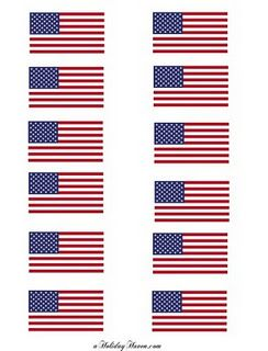 Free Printable Flags Star Template Flag Template Small American Flags