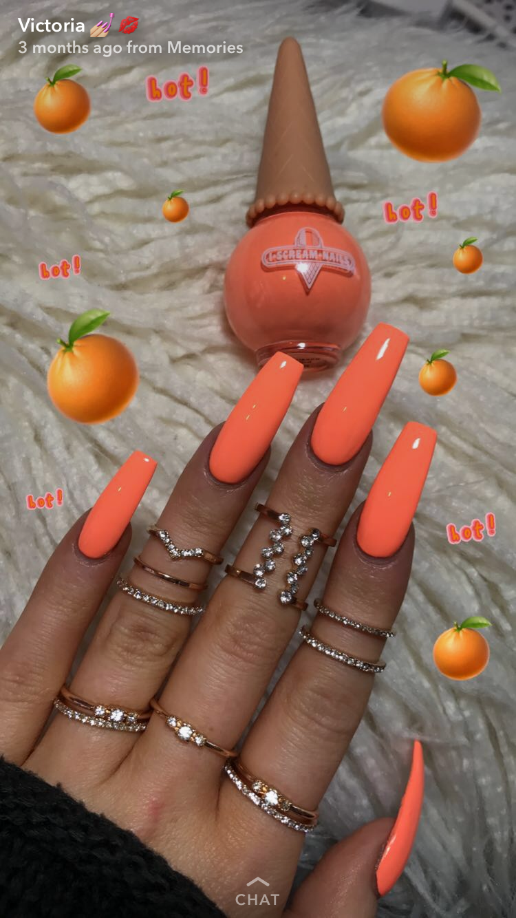 Like What You See Follow Me Pin Iijasminnii Give Me More Board Ideass Pretty Nails Neon Nails Orange Nails