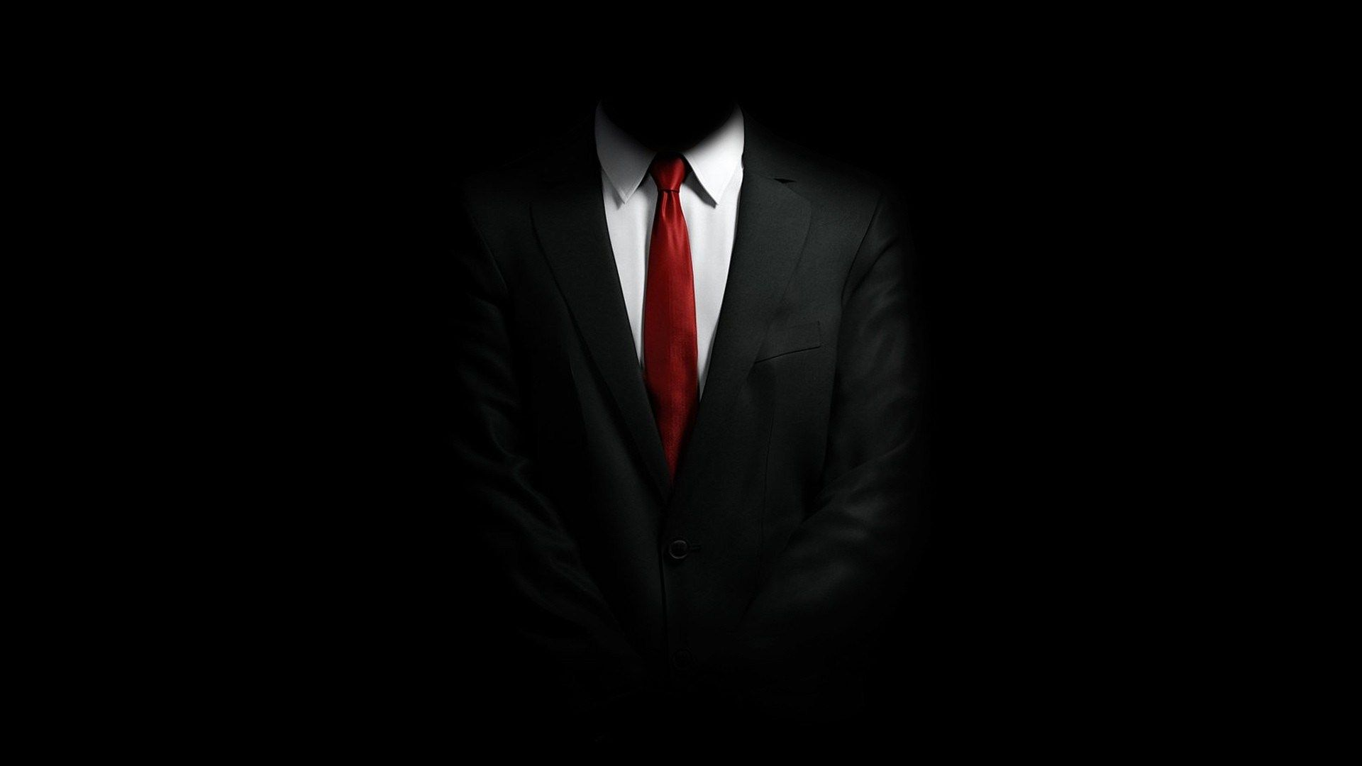 Black Suit White Shirt Red Tie HD Wallpaper FreeHDWall