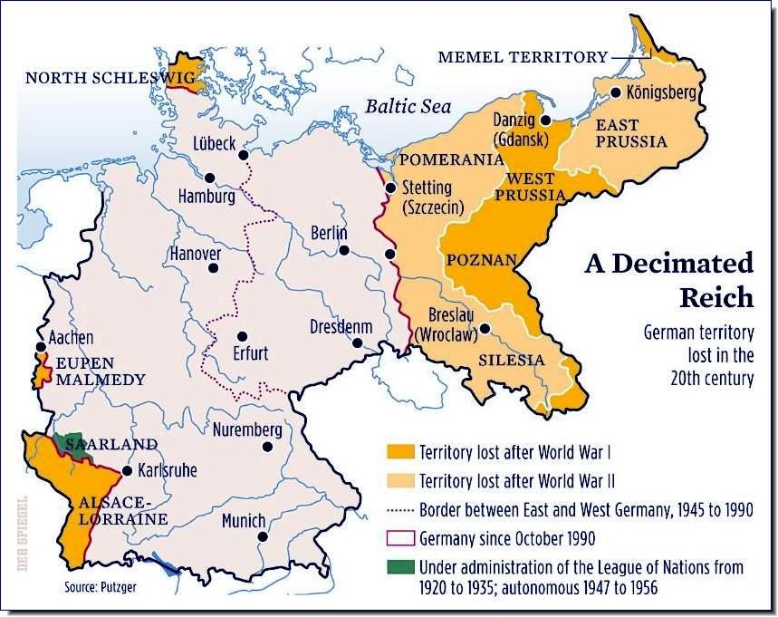 Ethnic Cleansing Of Germans After WW Surviving German Refugees - Germany map post ww2