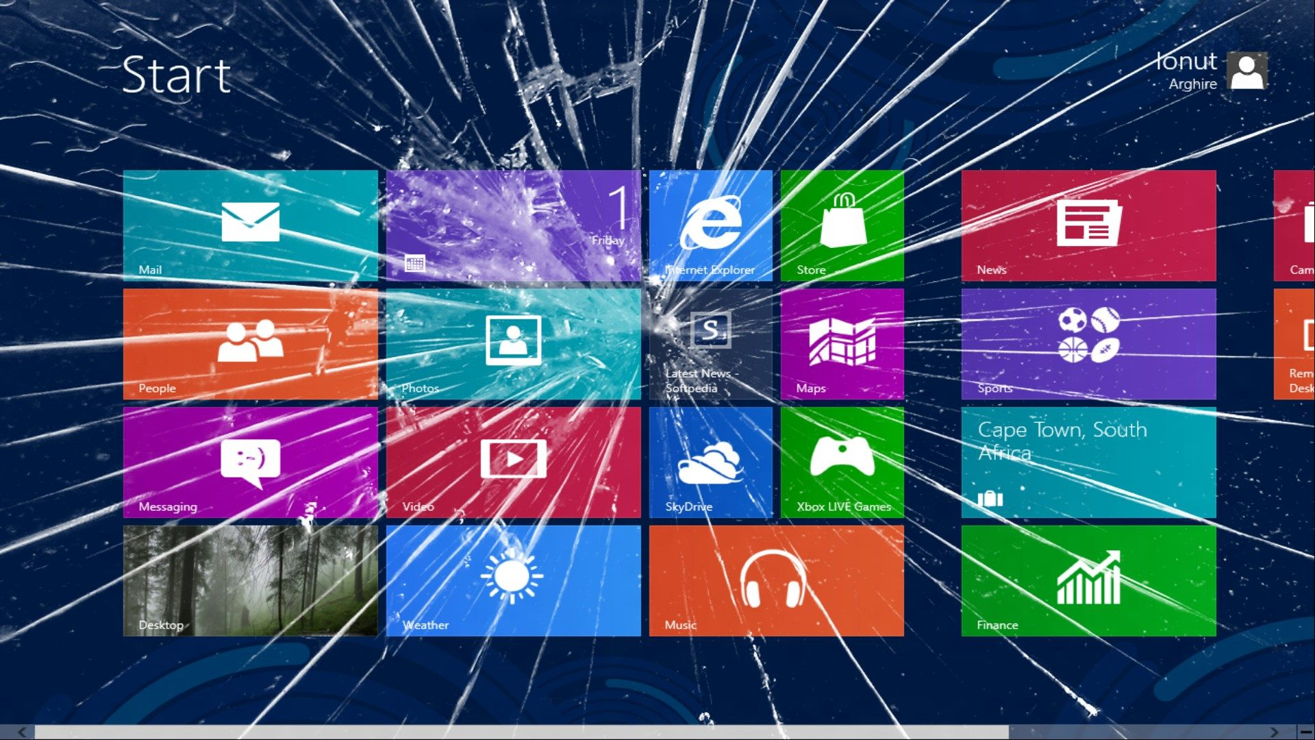 Broken Screen Wallpaper Windows 8 Broken screen