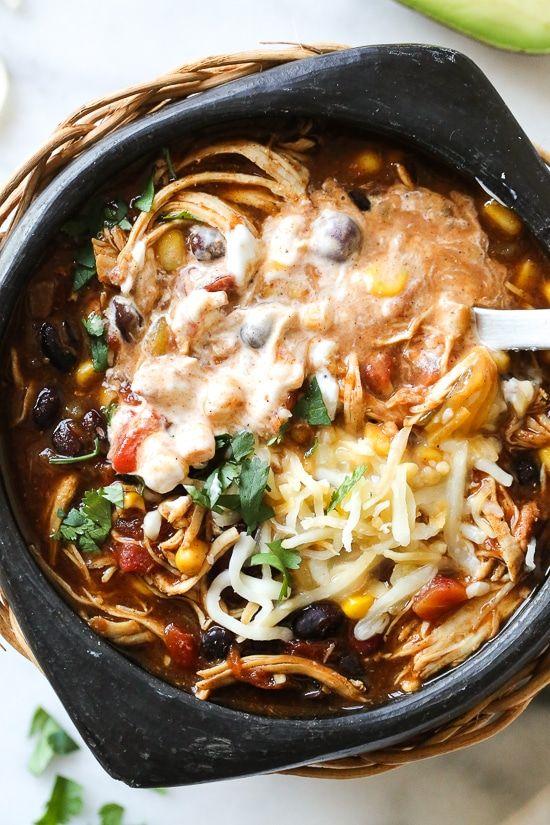 Chili au poulet taco instantané en pot