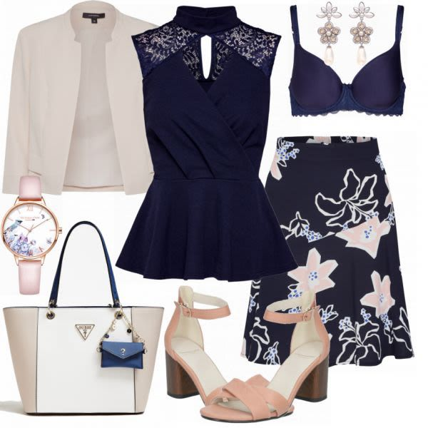 Guess style Damen Outfit Komplettes Business Outfit