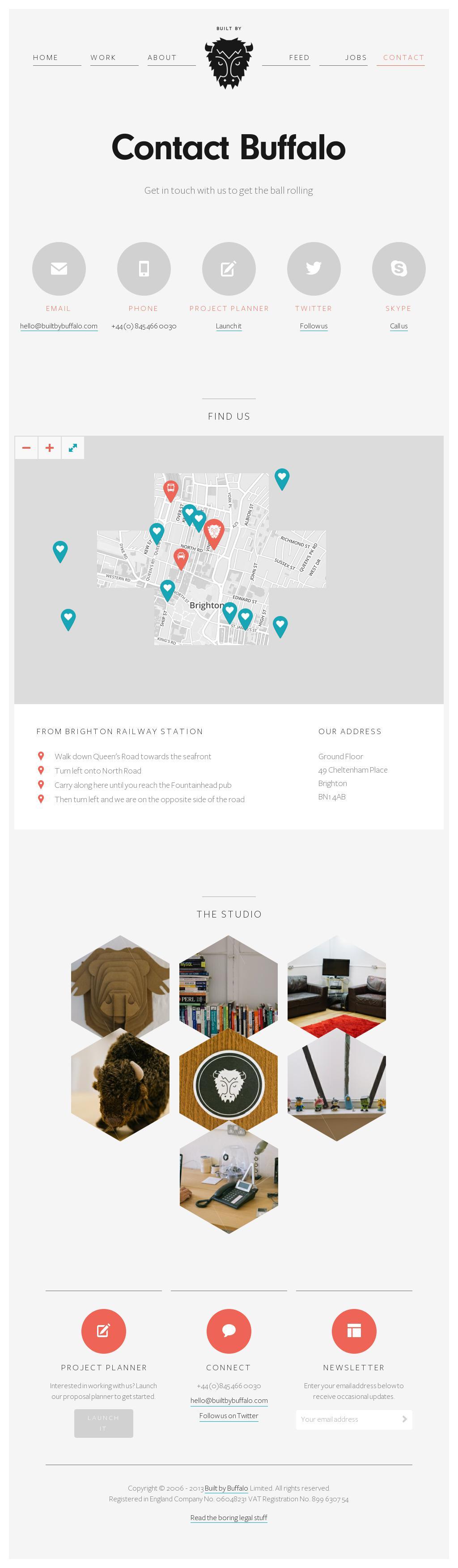 http://builtbybuffalo.com/contact courtesy of @Pinstamatic #flat #webdesign