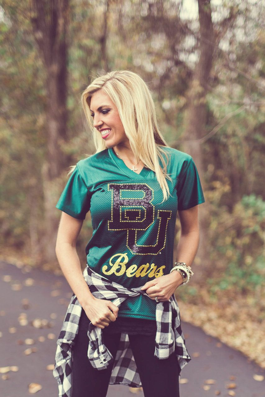 Baylor Bears sequin game day jersey Baylor outfits