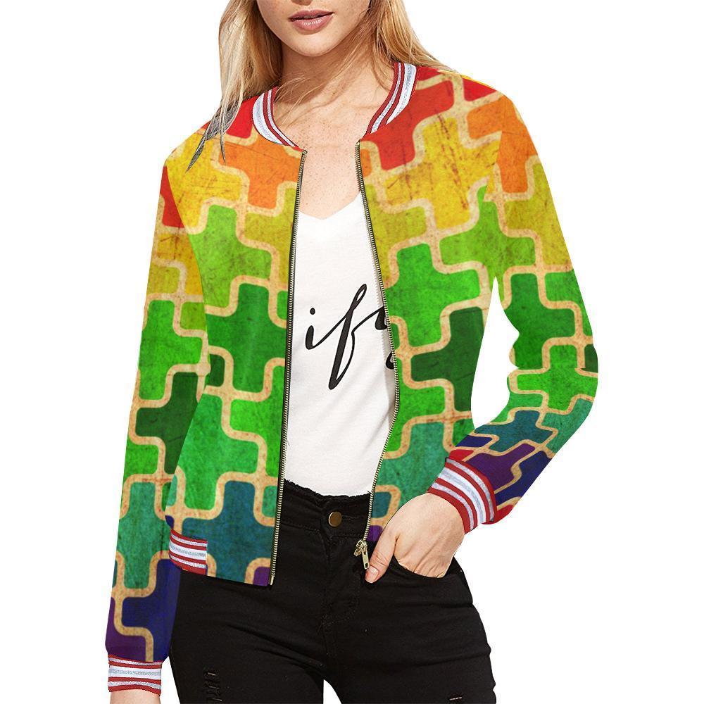 Autism Design 1 Women's All Over Print Horizontal Stripes