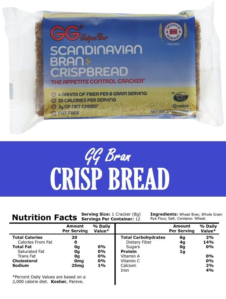 Gg Bran Crispbread Review Bread Nutrition Low Calorie Recipes Cracker Recipes